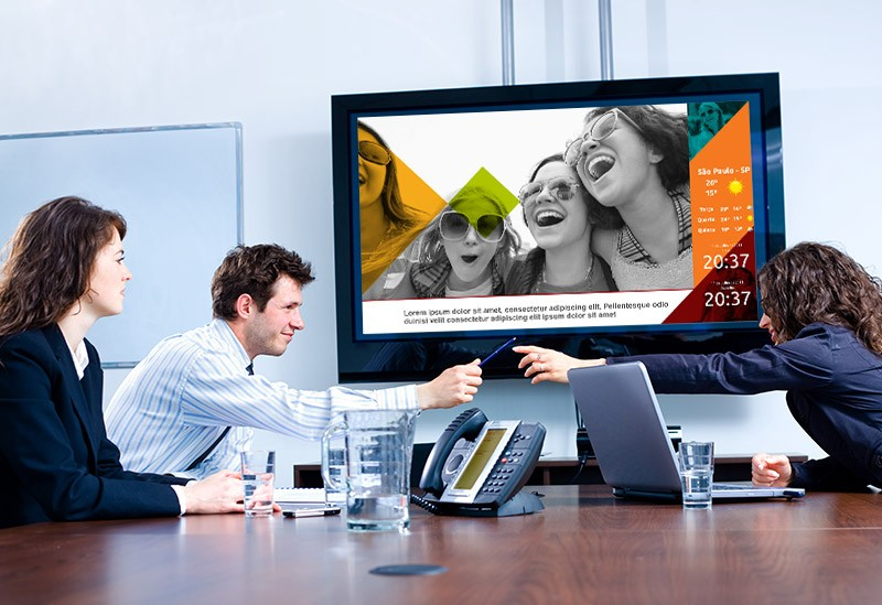 TV CORPORATIVA, MURAL DIGITAL E GESTÃO A VISTA
